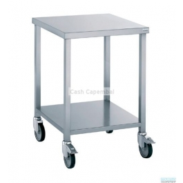 Table porte machine avec roulettes