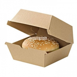 50 boites hamburger kraft hamburger grand format