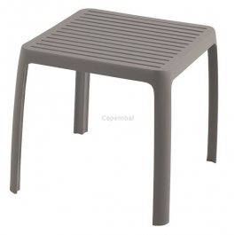 Table basse wave taupe