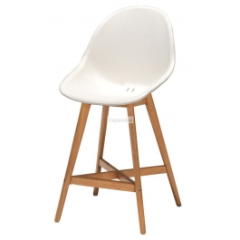 Tabouret vergio h65 blanc hauteur d'assise : 65 cm - in & out