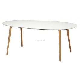 Table asco blanche 190 x 105 cm in and out